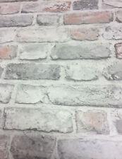 3D Brick Style Wallpaper Slate Stone Real Life Textured Vinyl Pastel Grandeco