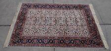 KARASTAN WOVEN KARA MAR WOOL RUG~Ivory Ushak Pattern~Design 300-1014~5.5' x 8.5'