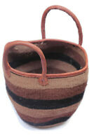 Natural Sisal Leather Straps Handwoven Bag Kiondo Kenya Africa Fair Trade Weaved