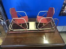 Rare Metal Swinging Double Glider Chairs Antique  Toy Glider Salesman's Sample