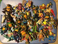 TMNT Vintage Teenage Mutant Ninja Turtles Lot of 35 figures (Playmates)
