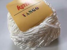 Katia Tango #10 Cream White Feathery Ribbon Yarn Nylon Polyester 50gr 71yds
