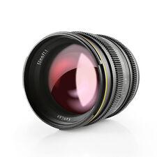 Kamlan 50mm F1.1 APS-C Large Aperture Manual Focus Lens for Canon EOS-M Mount