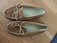 Mens size 13 Minnetonka Moccasins EUC brown