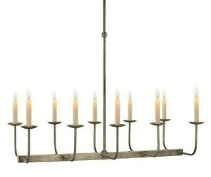 VISUAL COMFORT  LINEAR BRANCHED CHANDELIER IN ANTIQUE NICKEL EXCELLENT - No Box