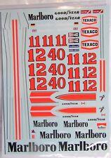 1/20 McLaren M23 Tobacco Sponsor Decal for Tamiya (Mc Laren) James Hunt Rush