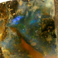 Boulder Opal with Blue Fire Queensland Australia Unpolished 5.3g 27mm