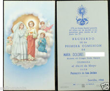 OLD FIRST COMMUNION REMEMBRANCE HOLY CARD YEAR 1964 ANDACHTSBILD SANTINI  CC1100