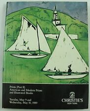 Christie's Prints Part Ii American Modern Books Art Auction Catalog May 1989