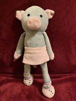 "Scentsy Buddy 13""  Pippy the Pig Sidekick Stuffed Plush Animal Toy Gray Pink LNC"