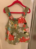 janie and jack cotton floral top size 3T green