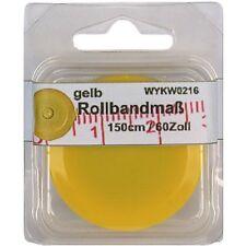 1 Rollbandmaß Schneidermaßband Schneider-Maß, Maßband gelb 150 cm /60 Zoll, 0216