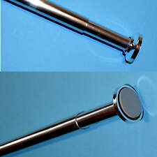 Telescopic Shower Curtain Rail Extendable 70-120cm Pole Rod Bath Window Curtain