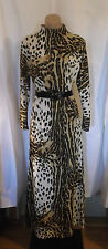 60s70s Jersey Leopard Print Maxi Dress by Jan Sue