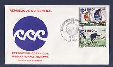 SENEGAL 1er jour  Okinawa  peche a l' espadon  course de  voiliers   1976