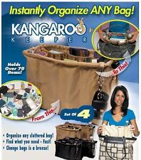 Kangaroo Keeper Set BROWN/TAN bag organizer As Seen on TV cosmetic pouch ZWY