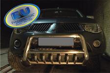 PARE BUFFLE MITSUBISHI  L200 L-200  2007-2009  HOMOLOGUE INOX Ø70 mm avec grill