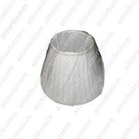 Paralume Pisa TL1 Small stoffa plissettato avorio per portalampada E14 Ø22cm