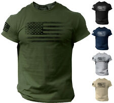 USA Distressed Flag Men T Shirt Patriotic American Tee