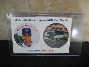 1995 Derek Jeter Columbus Clippers Milk Cap Series Card Very Rare AAA Team Issue