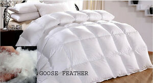 Luxury Goose Feather Down Duvet Quilt Hotel Quality 13.5Tog