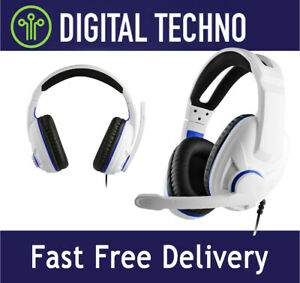 PS5 Over Ear Wired Stereo Gaming Headset Headphones with Mic Raise Mute Function