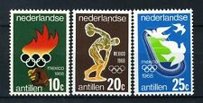 NL. ANTILLEN 393/395 MNH** 1968 - Olympische spelen Mexico.