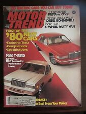 Motor Trend Magazine September 1979 Ford T-Bird Fiesta Civic Bonneville (XX)