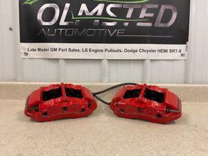 2005 2013 Chevrolet Corvette Z06 Rear Brake Calipers Red 4 Piston Set Pair 05 13