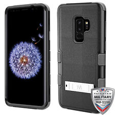 Samsung Galaxy S9 Plus Hybrid Cover Shockproof Protective Case w/ Stand Black