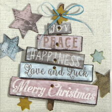 4x Paper Napkins for Decoupage Decopatch Craft Christmas wishes