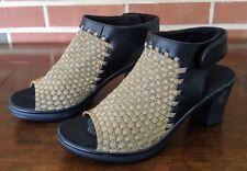 STEVEN by Steve Madden Women's Ezzme Bronze Heeled Sandal Size 8 1/2