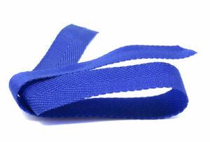 20mm Herringbone Blue Webbing | Bunting | Apron Tape | Edging Trim, 100m roll