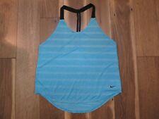 Nike 726417 Women's Omega Blue/Black Elastika Elevate T Back Tank Top Sz L