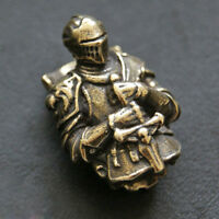 Antiqued Brass Metal Templar Paracord Beads Knife Tool Parachute Cord Pendant