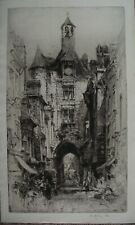 HEDLEY FITTON RE 1925 Fine ORIGINAL SIGNED ETCHING Amboise France