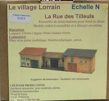 Colinter Productions - Echelle N -  La Rue des Tilleuls -  fond de décor -