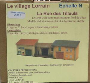 Colinter Productions - maquette Echelle N - La Rue des Tilleuls -  fond de décor