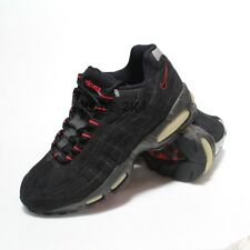 NEW VINTAGE NIKE MAX 95 BLACK COMET RED MEN US SZ 7.5
