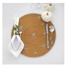 Hand Beaded Gold Holiday Placemat With Stars Joanna Buchanan Holiday Table Decor