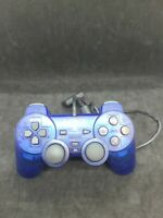 Sony PS2 Ocean Blue Clear Wired Controller OEM DualShock PlayStation 2