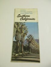Vintage Official Southern California Visitors Site Seeing Travel Road Map-B5