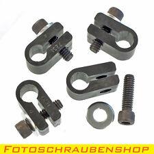 4x Rohrklemme mit Fotoschraube für 10mm-Rohrdurchmesser (Rohrschelle, Halterung)