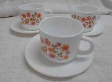 Cup & Saucer White Vintage Original Glassware