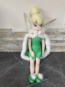 "Disney 20"" Princess Tinkerbell Plush Soft Toy Figure With Cape / Coat Peter Pan"