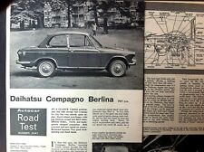 DAIHATSU COMPAGNO BERLINA -1965 - Road Test from AUTOCAR  PLUS UK Launch Article