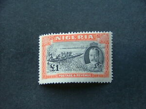 Nigeria KGV 1936 £1 black & orange SG45 LMM