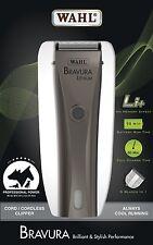 NEW Lithium Wahl Bravura Cord/Cordless Animal Hair Dog Clipper Gun Metal