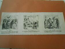 Caricature 1867 - Les Ambassadeurs Siamois offrant une lampe