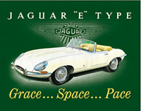 Jaguar E Type fridge magnet (fd)